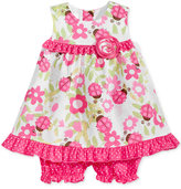 Bonnie Baby 2-Pc. Ladybug-Print Open-Back Dress & Shorts Set, Baby Girls (0-24 months)