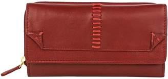 Hidesign Stitch-W3-RD Stitch Trifold Leather Wallet