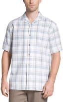 Van Heusen Short Sleeve Plaid Button-Front Shirt