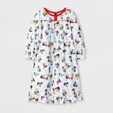 Peanuts Toddler Girls' Long Sleeve Nightgown - White