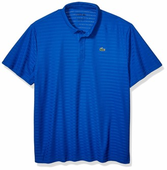 Lacoste Mens Golf Short Sleeve Ultra Dry Solid Jersey Polo Polo Shirt