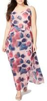 Rachel Roy Plus Size Women's Faux Wrap Maxi Dress