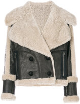 Drome fitted shearling jacket - women - Calf Leather/Lamb Skin/Lamb Fur - XS