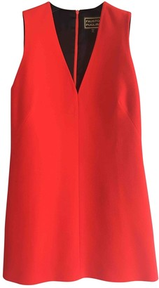 Fausto Puglisi Red Wool Dress for Women