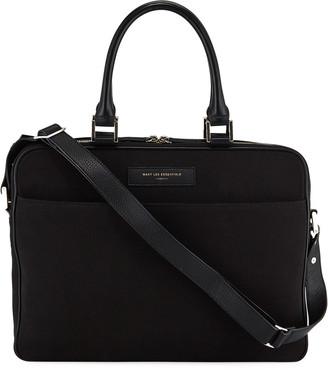 WANT Les Essentiels Men's Haneda Slim Canvas Briefcase Bag