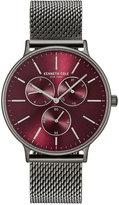 Kenneth Cole Men's Gunmetal-Tone Stainless Steel Mesh Bracelet Watch 46mm KC14946012