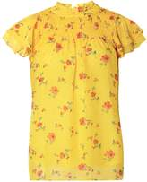 Dorothy Perkins Yellow Ditsy Floral Ruched Top