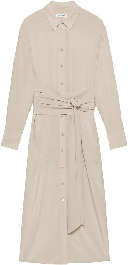 Equipment Jarvisse shirt silk dress