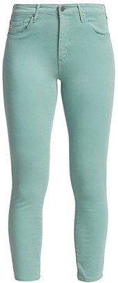 AG Jeans Prima Sateen Mid-Rise Crop Cigarette Pants
