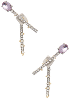 Alexis Bittar Crystal Lace Ear Hook with Removable Jacket and Rose Cut Stone Drop Earrings