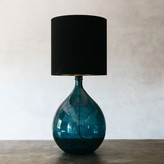 Graham and Green Round Glass Extra Large Blue Lamp