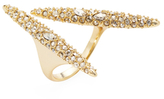 Alexis Bittar Crystal Encrusted Modernist Spear Statement Ring