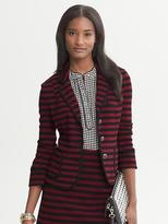 Banana Republic Striped Ponte Knit Blazer