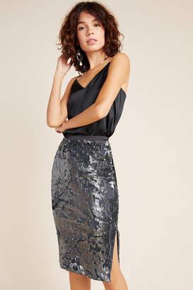 Ro & De Claudia Sequined Velvet Skirt