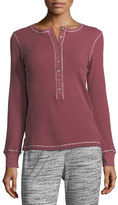 Allen Allen Long-Sleeve Boyfriend Henley Top