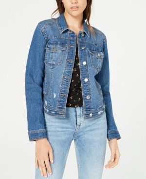 Tinseltown Juniors' Distressed Jean Jacket