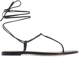 Gianvito Rossi 10mm Leather Thong Sandals