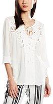 Deby Debo Women's Plain 3/4 Sleeve Blouse - Off-White -