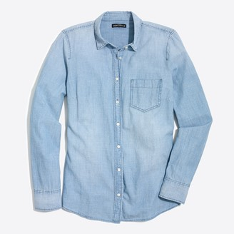 J.Crew Petite chambray shirt in signature fit