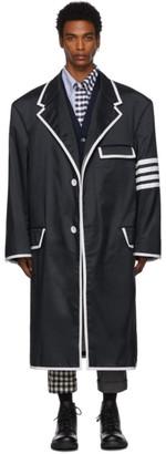 Thom Browne Navy Oversized 4-Bar Coat