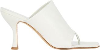 Gia X Pernille Teisbaek Leather Thong Slide Sandals