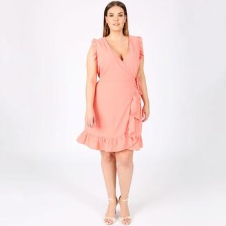 Lovedrobe Ruffle Trim Wrap Dress