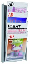 Alba DDPROGM M Wall mounted literature display A4 format - Silver