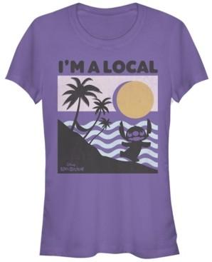 Fifth Sun Women's Disney Lilo Stitch Beach Scene Short Sleeve T-shirt