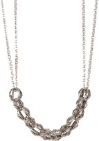 Lois Hill Sterling Silver Cutout Granulated Link Necklace