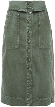 Ulla Johnson Andi Washed-denim Midi Skirt