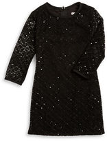 Sally Miller Girls 7-16 Crocheted Sequin Dress