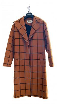 Self-Portrait Orange Wool Coats