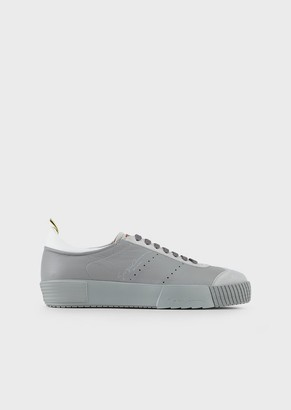 Giorgio Armani Deerskin Sneakers With Suede Details
