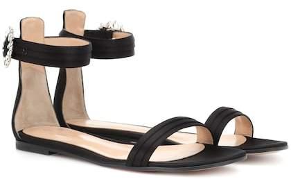 Gianvito Rossi Portofino Flat satin sandals