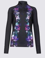 Marks and Spencer Floral Print Run Top