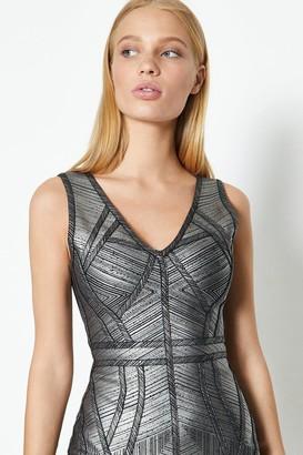 Coast V Neck Metallic Dress