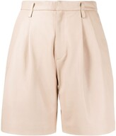 RED Valentino high-rise darted leather shorts
