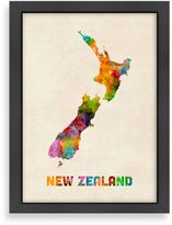 Bed Bath & Beyond Amiercanflat Art Pause New Zealand Colored Map Wall Art