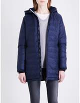 Canada Goose Ladies Blue Quilted Exposed Zip Camp Jacket