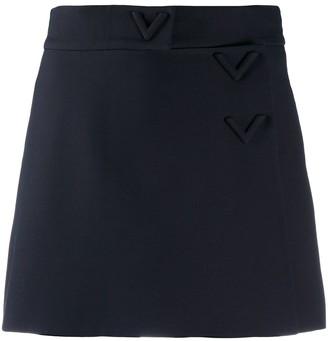Valentino High-Waist Mini Skort