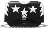 Givenchy Bow Cut Printed Leather Shoulder Bag - Black
