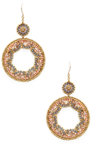 Miguel Ases Beaded Circle Statement Earrings