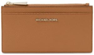 Michael Kors Michael Pebble Leather Slim Card Case