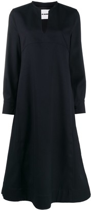 Jil Sander A-line standing collar dress