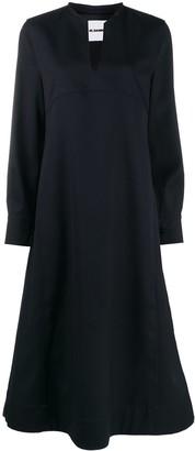 Jil Sander A-line standing collar dress