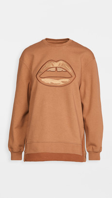 Markus Lupfer Josie Embroidered Shaded Lip Sweatshirt
