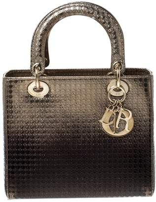 Christian Dior Lady Gold Leather Handbags