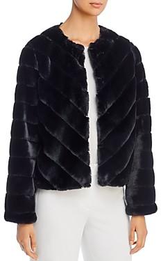Bagatelle Chevron Faux-Fur Jacket