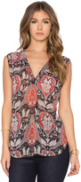 Bishop + Young Sleeveless Printed Blouse