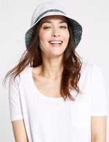 Marks and Spencer Pure Cotton Reversible Floral Trim Hat